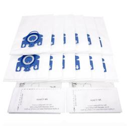 12x 3D Efficiency HyClean Dust AirClean Bags For Miele GN Va