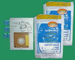 18 Eureka Style L Allergy Micron Filtration Vacuum Bags, Min