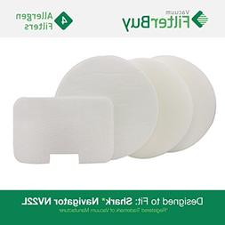 2 Shark NV22L Foam /& Felt Vacuum Filter Kits Designed by FilterBuy to Replace Shark Part # XF22. Pack of 8