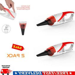2PC Cordless Hand Held Vacuum Cleaner Small Mini Portable Ca