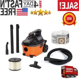 4 gal 5.0-Peak HP Portable Wet Dry Shop Garage Vac Lightweig
