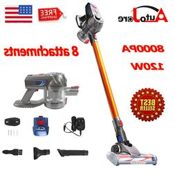 8000PA Suction Stick & Handheld Cordless Vacuum Cleaner Brus