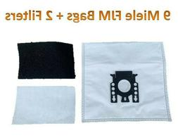 9 Bags for Miele FJM Synthetic Vacuum Cleaner Bag + 2 Filter