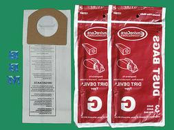 9 Royal Type G Hand Vacuum Filter Bags, Dirt Devil Hand Vac