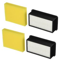 2-Pack - Bissell 1008 replacement Pre-Motor Foam Filter and