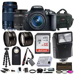 Canon EOS Rebel T5i w/EF-S 18-55mm & 75-