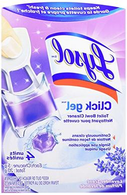 Lysol Automatic Toilet Bowl Cleaning Click Gel, Lavender, 4