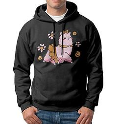 Obachi Baby Girl Llama Men's Long Sleeve Pullover Hooded Swe