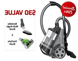 Ovente ST2620B Bagless Canister Cyclonic Vacuum – HEPA Fil