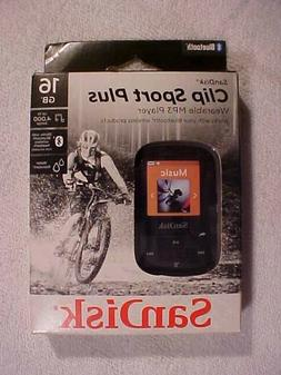 SanDisk - Clip Sport Plus 16GB Wearable MP3 Player w/Bluetoo