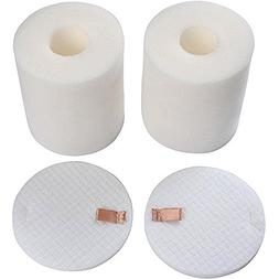 2 Pack Replacement Foam & Felt Filter Set Fits Shark Rotator