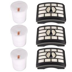 KEEPOW 3 Pack Hepa Filter & Foam Filter Kit Replacement for