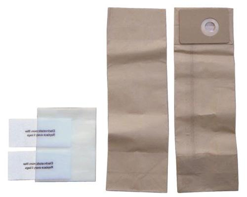 30 CarpetMaster Nilfisk Commercial Upright Bags 1471058500 Pre Filters 0960 500