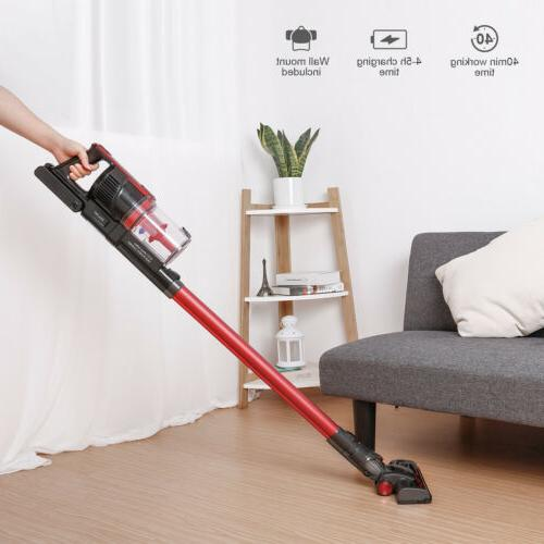 Dibea 2-in-1 4000Pa Handheld Upright Stick Floor Vacuum Clea