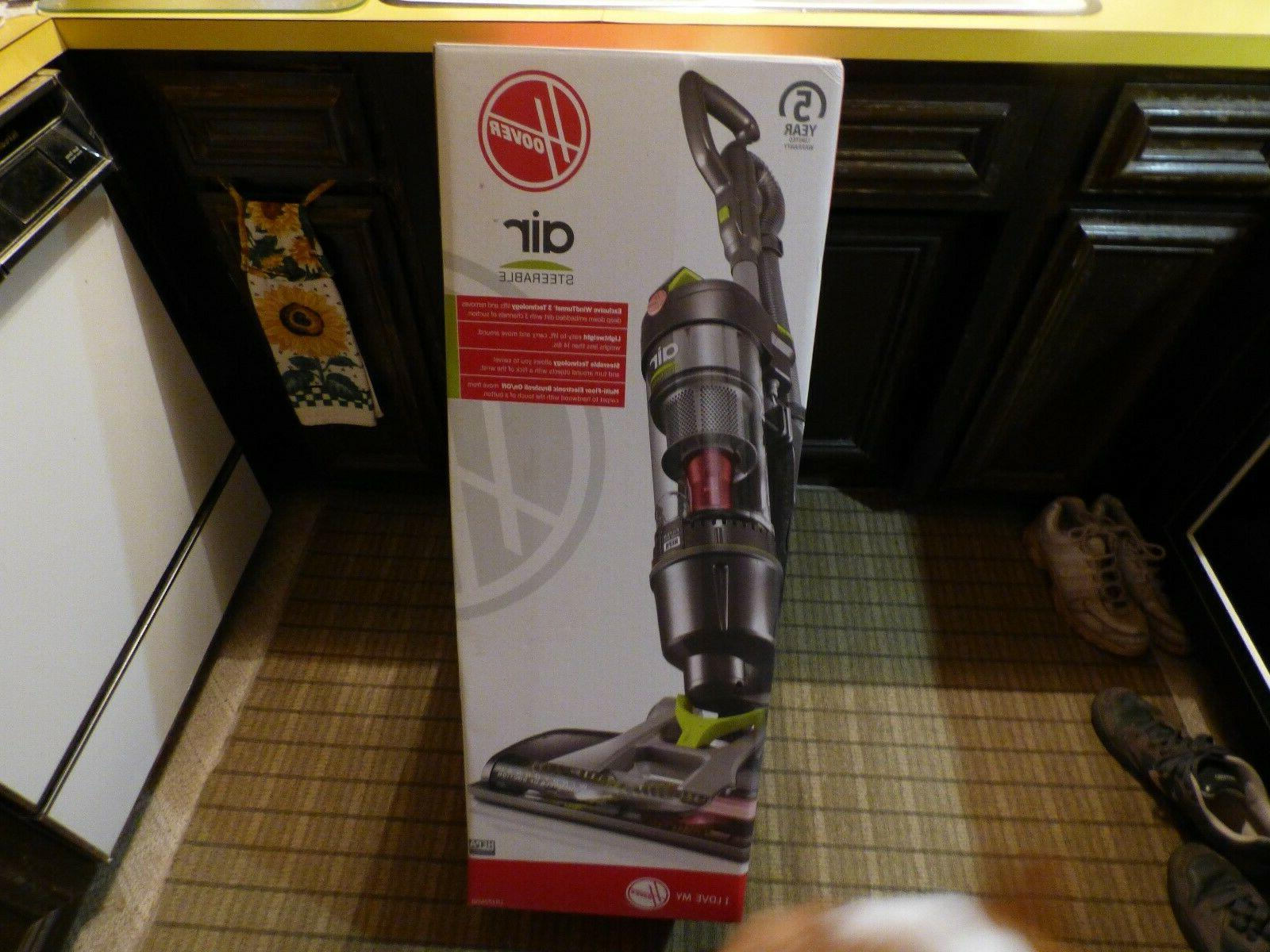 Hoover - Air Steerable Bagless Upright Vacuum - Silver/green