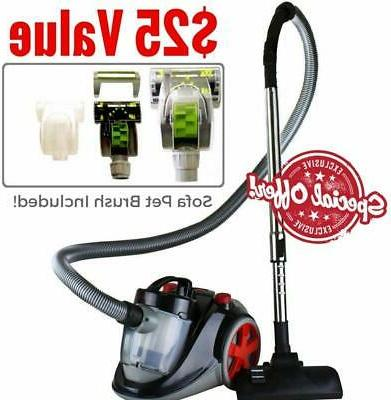 bagless canister vacuum set with hepa filter