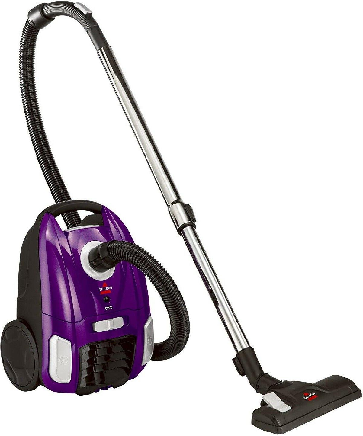 Purple Canister Vacuum Compact Floor Carpet Vaccum