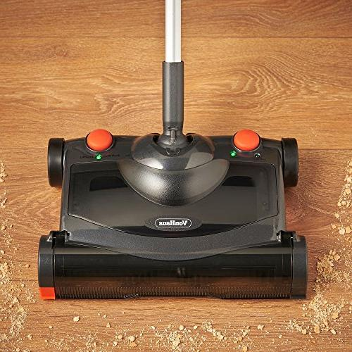 VonHaus Electric Hard Sweeper - Cordless/Wireless Rechargeable Upright and