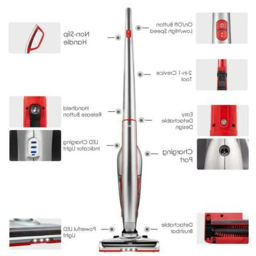 Vacuum Cleaner 2 in 1 LED Silver