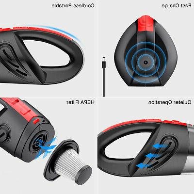 AUDEW HandHeld Car Vacuum Cleaner Cordless Charger Wet Strong