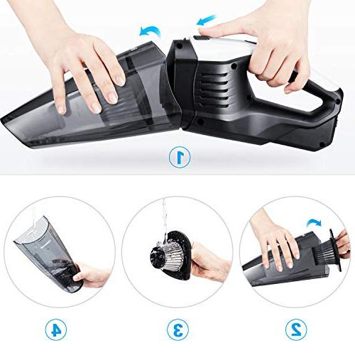 Handheld Vacuum Hand Battery, Charge Wet & Cordless Home Car Cleaning