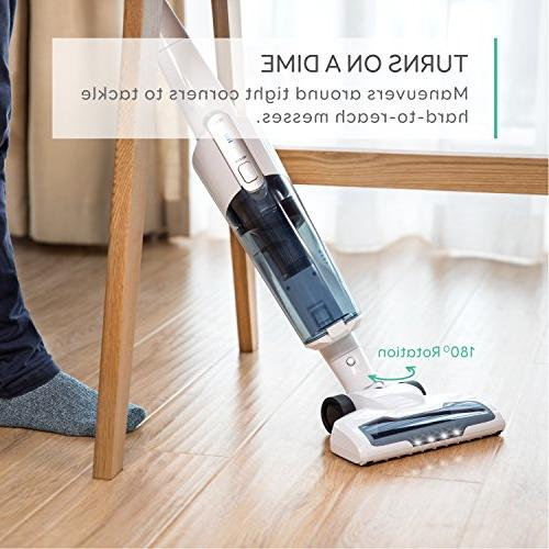 eufy HomeVac Lightweight Cordless Upright-Style Vacuum 28.8V 2200 mAh Li-ion Powered Rechargeable and Vacuum Mount