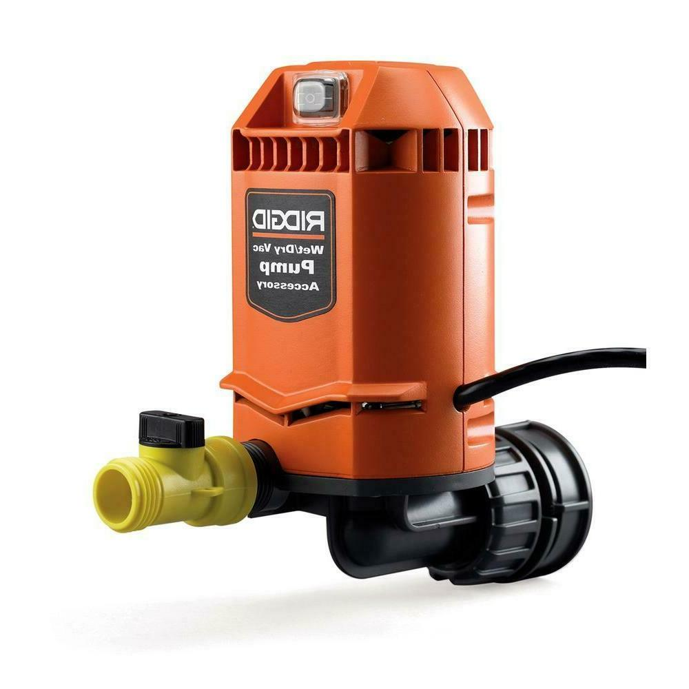 Ridgid Pump For Wet/Dry Vacuum Cleaner Drain Water Removal A