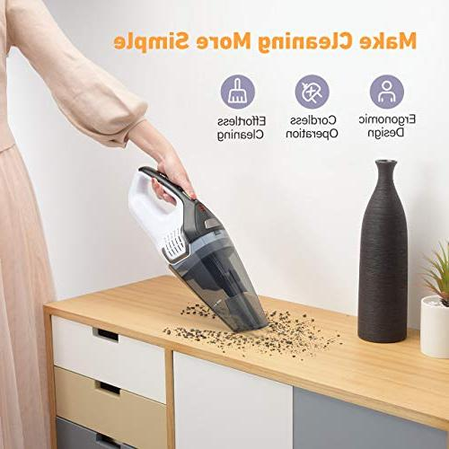 Homasy Upgraded Handheld Cleaner Cyclonic Suction Quick Charge, Vacuum for Hair, Cleaning