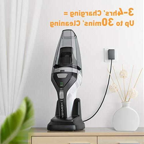 Homasy Vacuum Cleaner Cordless, Powerful Cyclonic Suction Quick Vacuum Hair, Home Car Cleaning