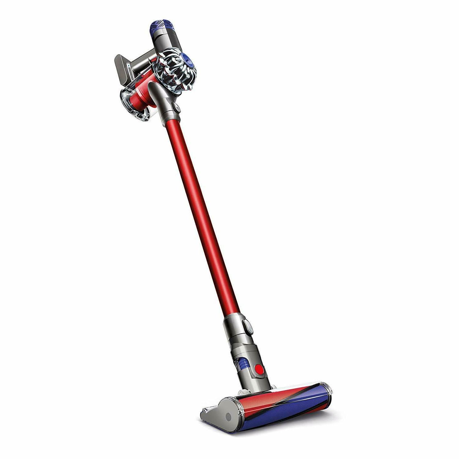 v6 absolute cordless stick vacuum cleaner red