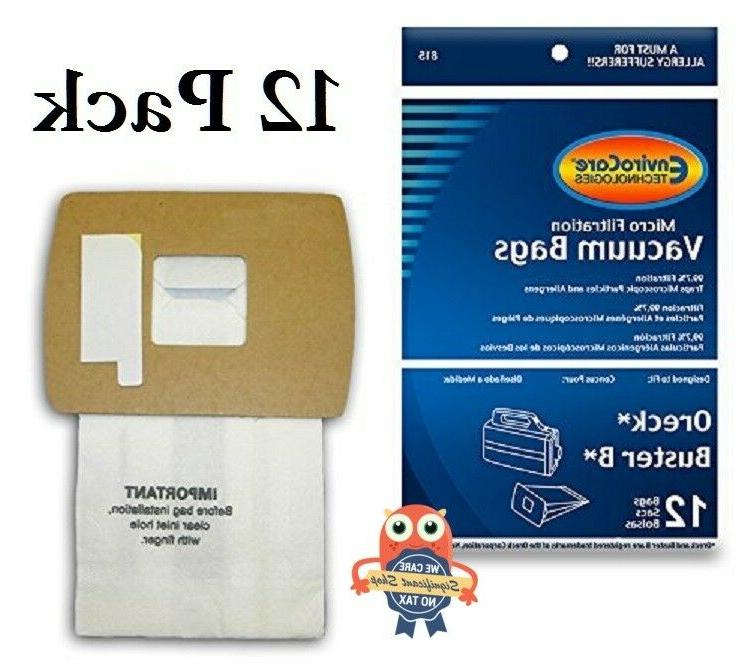 Vacuum Cleaner Bags Oreck Bag 12 Pack Canister Style XL Mode