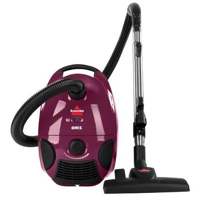 Bissell Zing Bagged Canister Vacuum, Maroon, 4122 - Corded C