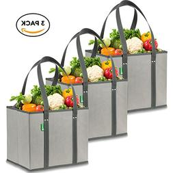 Reusable Grocery Shopping Box Bags . Large, Premium Quality