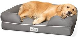 """PetFusion Large Dog Bed w/ Solid 4"""" Memory Foam, Waterproof"""