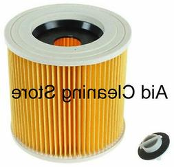 Wet & Dry Cartridge Filter For Karcher WD2.200 WD3.500 Hoove